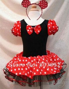 Free Shipping Halloween Minnie Mouse Girls child children Party Christmas Costume Ballet Tutu Dress 2-10Y Kids $21.00