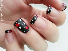100 Purity Polka Dot Nail Designs For Trendy Girls Fabulous Nails, Gorgeous Nails, Fancy Nails, Trendy Nails, Hot Nails, Hair And Nails, Hot Nail Designs, Polka Dot Nails, Polka Dots