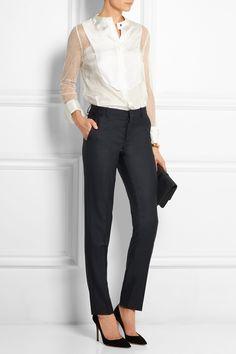 JOSEPH Kong wool-twill slim-leg pants  €245.00 https://www.net-a-porter.com/products/610615