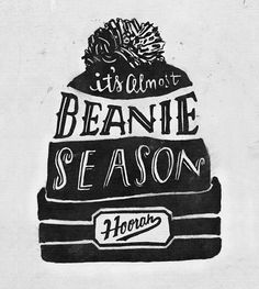 It's almost beanie season! // Lettered Illustrations - Mary Hall