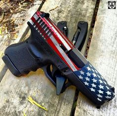 Red, White and Pew Glock!