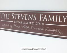 Personalized Family Name Sign Custom by AmericanWoodcrafts on Etsy