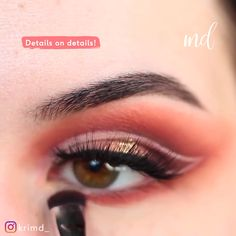 Not even the prettiest sunsets can compare to this eye look's beauty! What's Makeup ? What is Makeup ? Makeup For Brown Eyes, Smokey Eye Makeup, Eyeshadow Makeup, What Is Makeup, Make Up Looks, Make Up Simple, Makeup Looks Tutorial, Make Up Videos, Simple Eye Makeup