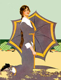 """Clarence Coles Phillips (1880-1928), is best known for his """"fadeaway girl"""" illustrations"""