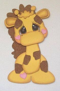 Premade Baby Giraffe Zoo Paper Piecing by My Tear Bears Kira Kids Cards, Baby Cards, Baby Scrapbook, Scrapbook Paper, Foam Crafts, Paper Crafts, Cute Clipart, Paper Piecing Patterns, Scrapbook Embellishments