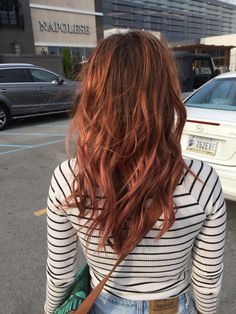 Rose gold copper hair is my new fav! Thanks to Laura @ red head salon, Muncie.. :) @beautygardenbykeeks