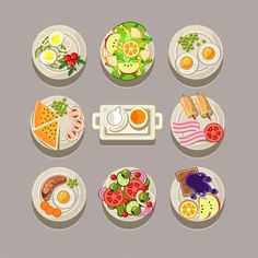 Breakfast Concept With Fresh Food  - Food Objects