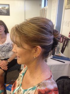 Perfect mother of the bride or simple updo for a wedding