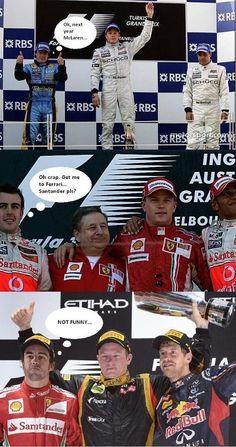 Kimi Räikkönen hoitaa