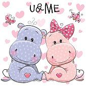 Two cute Hippos