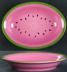Watermellon Fiestaware | HOMER LAUGHLIN CO FIESTA WATERMELON at Replacements, Ltd.  Never saw this before.