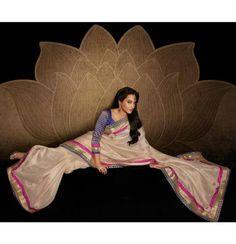 Beige Raw Silk Pearl Saree - DeesSarees