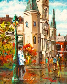 St Louis Cathedral, Jazz Art, New Orleans French Quarter Art, Stretched Canvas or Print, New Orleans Art, by New Orleans Artist Dianne Parks