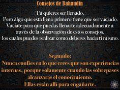 Consejos de Bahaudin: