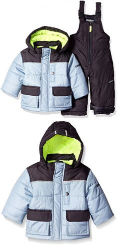 8bee74ec5c7 OshKosh B'Gosh Osh Kosh Baby Boys Ski Jacket and Snowbib Snowsuit Set
