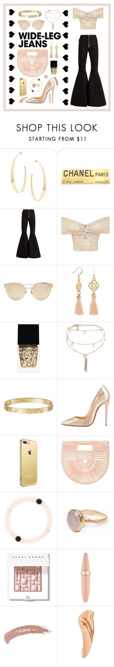"""""""Wide Leg Jeans"""" by anna-styles135 ❤ liked on Polyvore featuring Lana, Chanel, E L L E R Y, Christian Dior, Witchery, Ettika, Cartier, Christian Louboutin, Cult Gaia and Bohemia"""