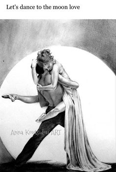 20 Mind-Blowing Pencil Drawings By Greek Artist That Illustrate The Beauty Of Love - Let's dance to the moon love Drawing Sketches, Pencil Drawings, Lets Dance, Couple Art, Mind Blown, Mystery, Silhouette, Romantic, Deviantart