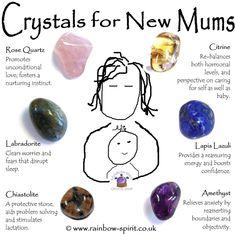 Crystal Set for New Mums - - Crystal Magic, Crystal Healing Stones, Crystal Shop, Crystal Grid, Crystal Cluster, Crystals And Gemstones, Stones And Crystals, Swarovski Crystals, Lapis Lazuli