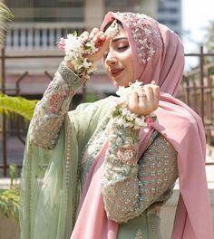Hijabi Wedding, Muslimah Wedding Dress, Hijab Wedding Dresses, Hijab Bride, Wedding Dresses For Girls, Party Wear Dresses, Bridal Hijab Styles, Latest Bridal Dresses, Bridal Outfits