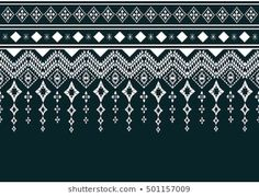 Geometric ethnic pattern embroidery design for background or wallpaper and clothing. Source by clothing Textile Pattern Design, Geometric Pattern Design, Art Deco Pattern, Textile Patterns, Geometric Designs, Print Patterns, Fair Isle Knitting Patterns, Weaving Patterns, Microscopic Photography