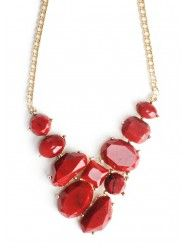 Love stones Necklace In Red  $23.00