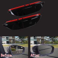 2 pcs BLK Car Rear View Clear Side Mirror Rain Snow Shield Fit For VW New Lavida 2013-2014