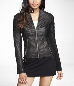 stylish quilted leather jacket! Must have! Get 5% Cash Back http://www.studentrate.com/itp/get-itp-student-deals/Express-5percent-Student-Discount--/0