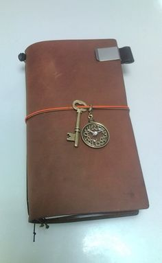 Midori Traveler's Notebook.  Love the charms.