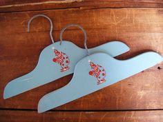 Two 1940's Child's Clothes Hanger