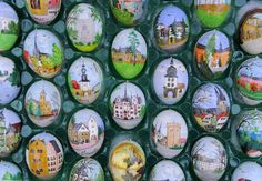 Volker Kraft lives in Saalfeld near the border with the Czech Republic. The Easter Egg Tree in Germany is decorated with almost 10,000 hand decorated Easter eggs and takes their entire family two weeks to hang them all!