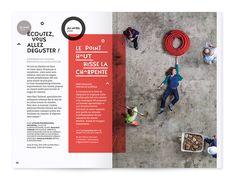 Thibaut Chignaguet - Le point haut - photo pleine page, travail en colonne et mise en valeur de la partie encadrée en rouge, on attire l'oeil. -