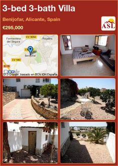 3-bed 3-bath Villa in Benijofar, Alicante, Spain ►€295,000 #PropertyForSaleInSpain