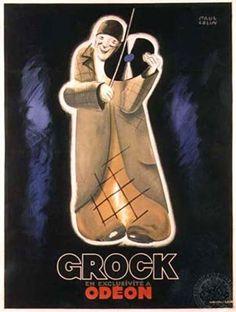Paul Colin (1892-1985) – Affiche pour le clown Grock (1930)