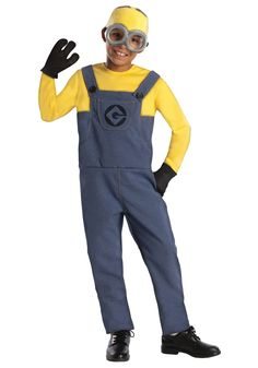 Dress like your favorite movie character in this Despicable Me 2 - Minion Dave Child Costume! The costume includes a jumpsuit, gloves, headpiece and goggles. Shoes are not included. The costume is ava Despicable Me Halloween Costume, Minion Costumes, Up Costumes, Toddler Halloween Costumes, Children Costumes, Costume Ideas, Adult Minion Costume, Halloween Ideas, Costumes 2015