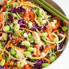Rad Rainbow Raw Pad Thai Salad