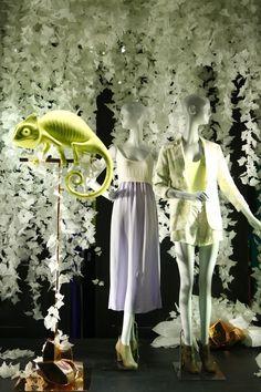 Aritzia, New York, April 2013 Visual Display, Shop Window Displays, Through The Looking Glass, Window Design, Visual Merchandising, Store Design, Eye Candy, Design Inspiration, Creative