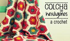 Colcha de Hexágonos a Crochet - PASO A PASO - ༺✿ƬⱤღ  http://www.pinterest.com/teretegui/✿༻