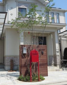 オープンエクステリア施工事例 / 和泉市、石貼り、駐車場 Backyard, Patio, Mailbox, Door Gate, Fence, Exterior, Doors, Building, Architecture