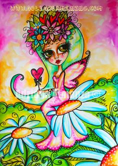 Tombows on Canson, i love to paint these little flower fairies! ^^