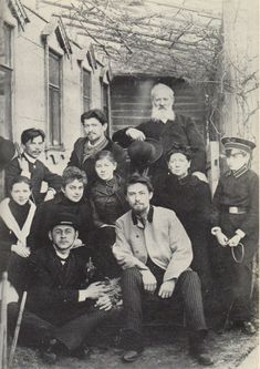 Anton Chekhov with his family and friends, 1890