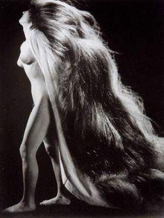 "Ph © Pierre Boucher, ""Nude with Hair"", 1943  HIgher at https://dantebea.files.wordpress.com/2013/10/pierre-boucher-nu-c3a0-la-chevelure.jpg (via Laura C. on Twitter)"