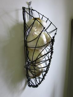Steel Wire Wall Hanging Garlic Basket by CharestStudios on Etsy, $24.00