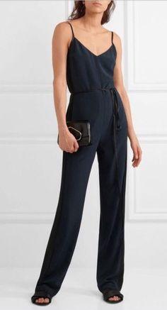 3458a1722cb Rag   Bone Navy Rosa Silky Jumpsuit Size 4 NWT  550