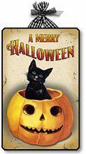 Vintage Style Halloween Cat