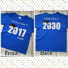 Preschool Graduation Shirt 2020 / Preschool Graduation Gift / Preschool Graduation / Graduation Shirt / Pre-K, Future class of shirt Preschool Graduation Gifts, Graduation Shirts For Family, 5th Grade Graduation, Graduation Theme, Kindergarten Graduation, Pre Kindergarten, Pre School Graduation Ideas, Preschool Shirts, Preschool Class