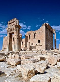 Temple of Bel, Syria. The Temple of Bel is an ancient stone ruin located in Palmyra, Syria. (V)
