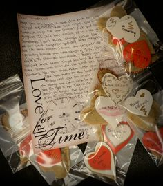Using the tutorial from my earlier pin I stitched these heart tea bags! Can't wait to send them off to my sweetheart <3 Each tag has steeping instructions, detailed flavours and a cute love note on the back. If you're not much for a needle and thread you can always use regular tea bags and staple a personalized heart tag to them :)