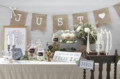 Vintage Hochzeitsdekoration für eine romantische herbstliche Hochzeit
