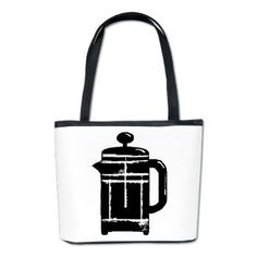 Grungy French press coffee pot Bucket Bag