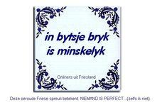Mensenwerk (digitaal spreuktegeltje) » Fan van Friesland